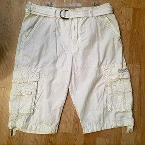 UNIONBAY cargo shorts with belt